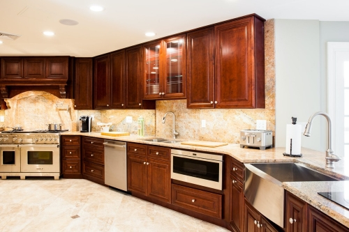 AZ Stone _ Tile Concepts Mahogany Kitchen Remodeling Project