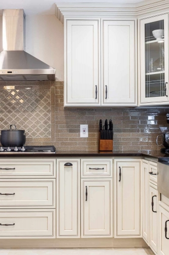 AZ Stone _ Tile Concepts Pearl Glazed Kitchen Remodeling Cabinet Section