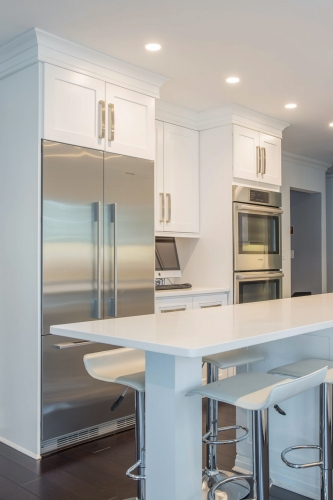 AZ Stone _ Tile Concepts White Kitchen Remodel Dining Area