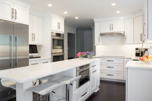 AZ Stone _ Tile Concepts White Kitchen Remodeling Cooking Area