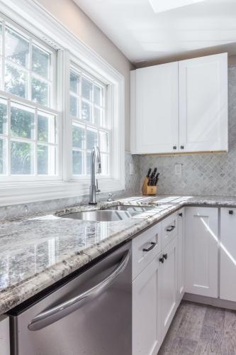 AZ Stone _ Tile Concepts White Kitchen Remodeling Sink Area