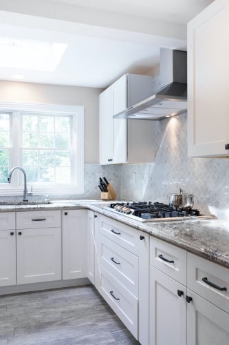 AZ Stone _ Tile Concepts White Kitchen Remodeling Sink Section