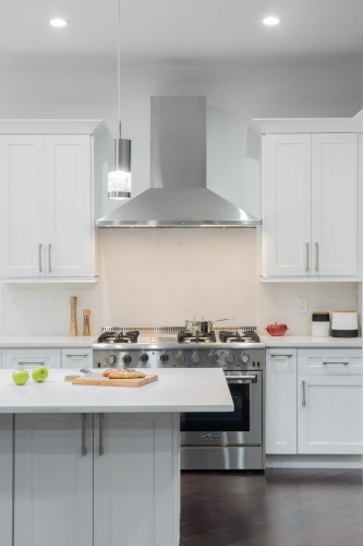 AZ Stone _ Tile Concepts White Kitchen Remodeling Stove Section