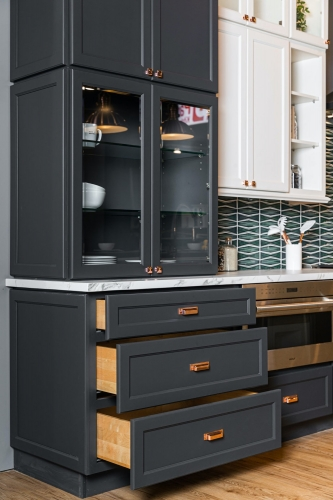 Charcoal Kitchen Remodel Cabinet Section