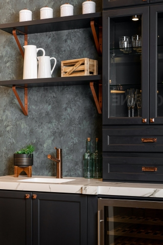 Charcoal Kitchen Remodel Vertical View