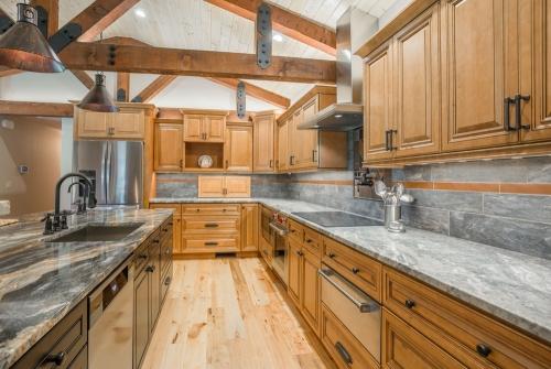 Cinnamon Glazed Kitchen Remodel Front View