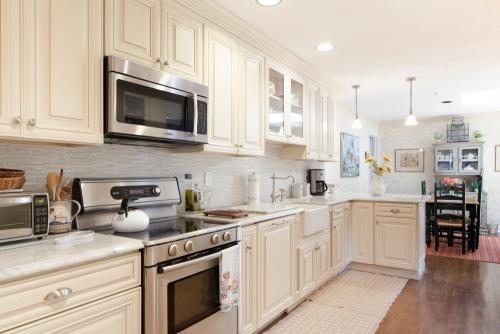 Creme Glazed Kitchen Remodel Side View