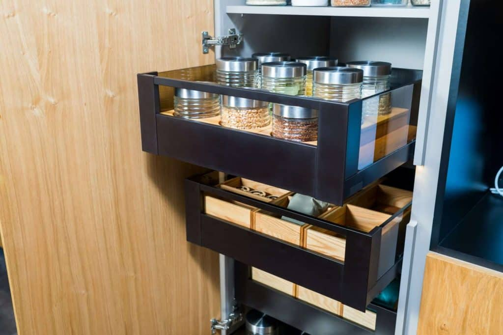 Kitchen cupboard with drawers