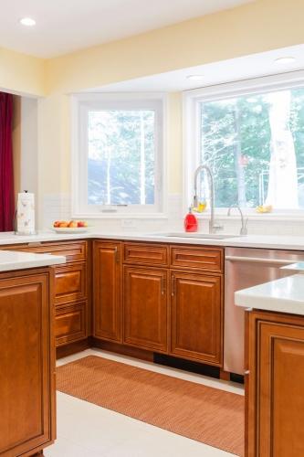 Mocha Glazed Kitchen Remodel Job