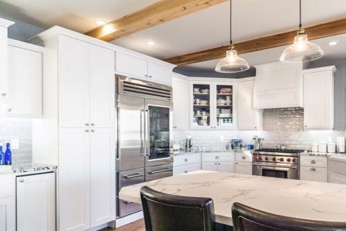 White Kitchen Remodel Job