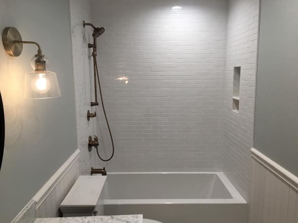 White Tiles Bathroom Remodeling